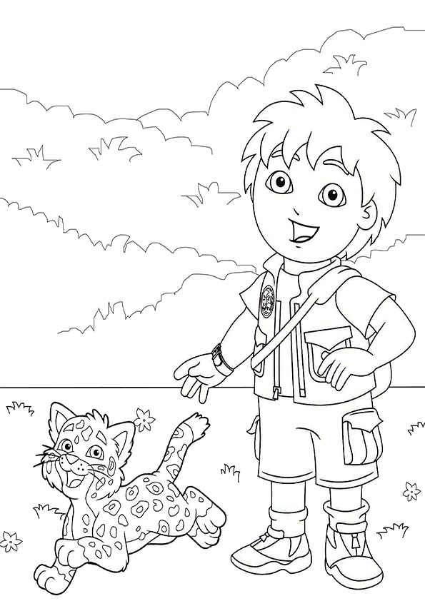 go-diego-go-coloring-page-7.png (595×842) | Dora Birthday Ideas ...