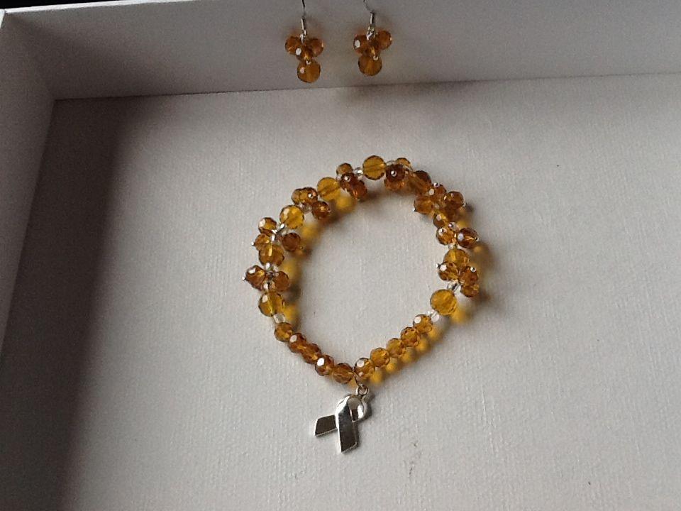 My homemade MS bracelet | Jewelry making inspirations | Pinterest ...