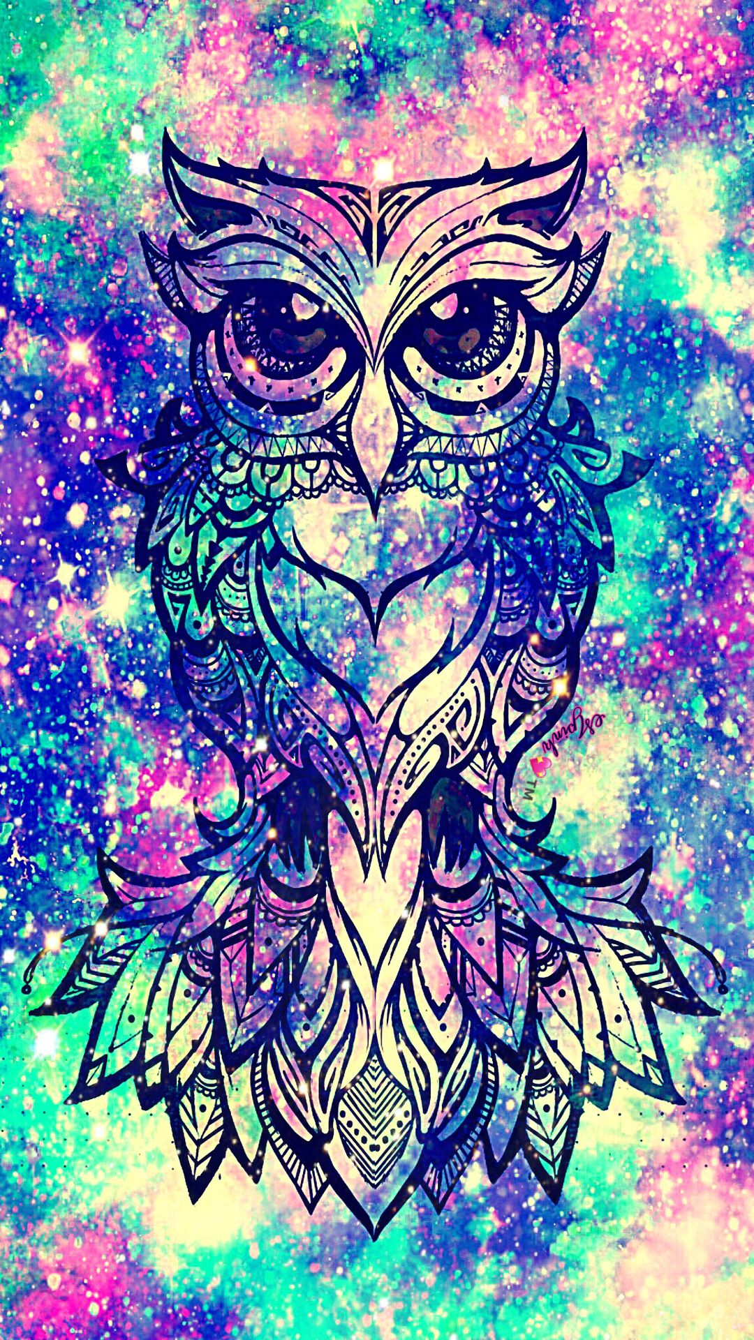 Mermaid Quotes For Phone Wallpaper Pretty Owl Galaxy Wallpaper Androidwallpaper