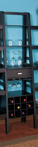Black Ladder Shelf Storage with Wine Rack LTD,http://www.amazon