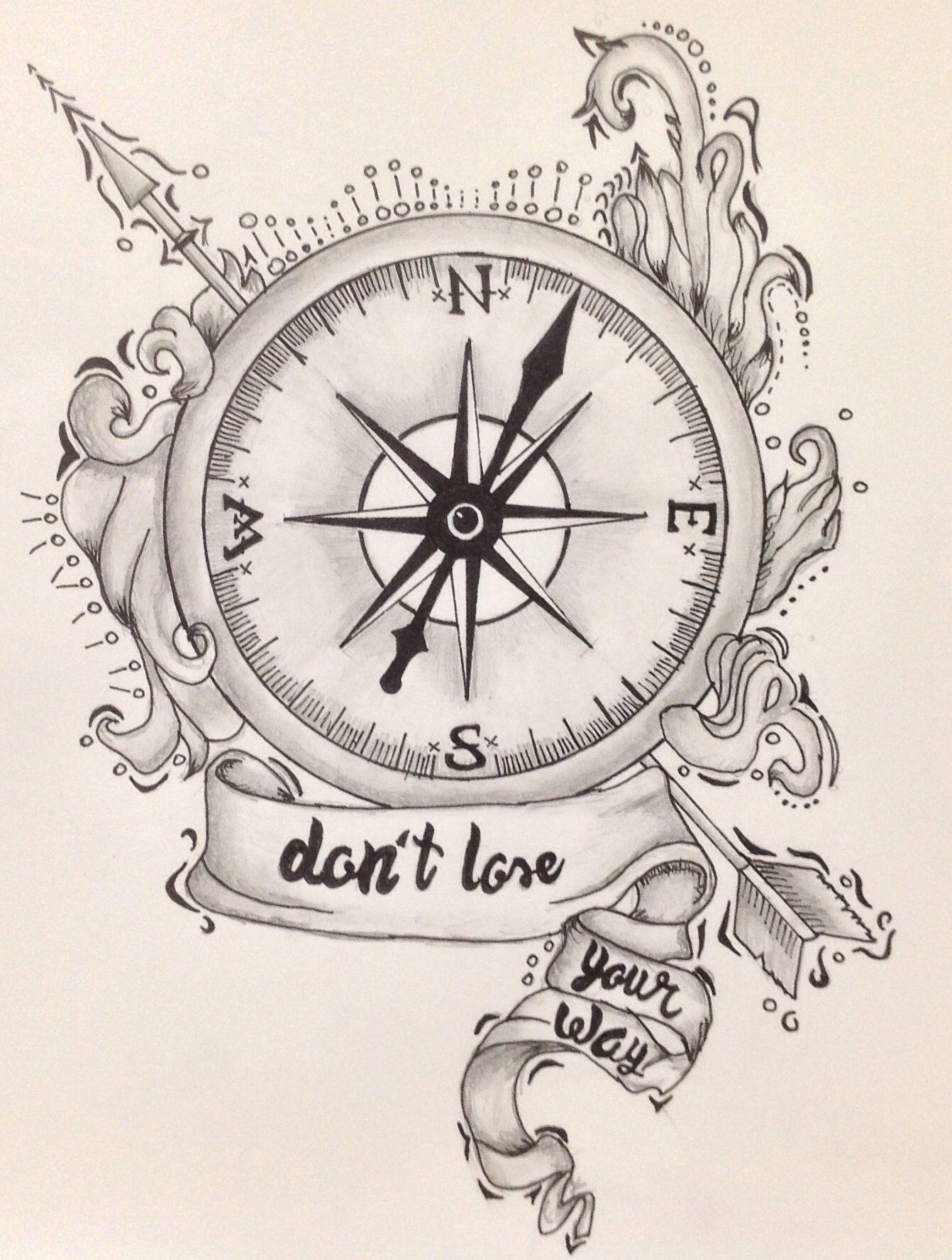 Compass Ink Vintage Compass Tattoo Compass Tattoo Design Nautical Compass Tattoo