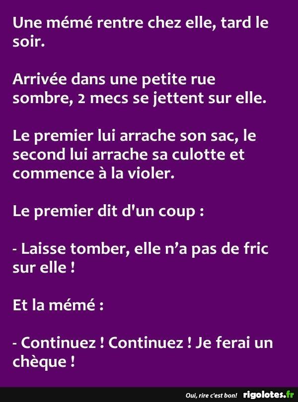 Fabuleux Une mémé rentre chez elle, tard le soir. - RIGOLOTES.fr  AX62