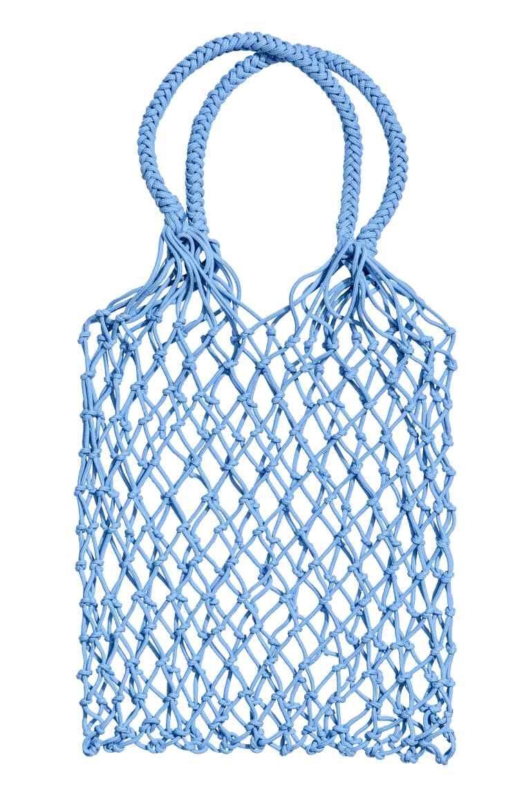 Shopper in rete - Azzurro - DONNA | H&M IT