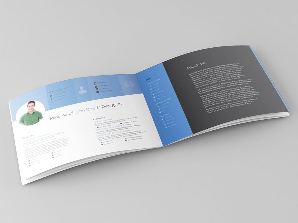 "A versatile ""flat design"" portfolio template for indesign cs4 (and ..."
