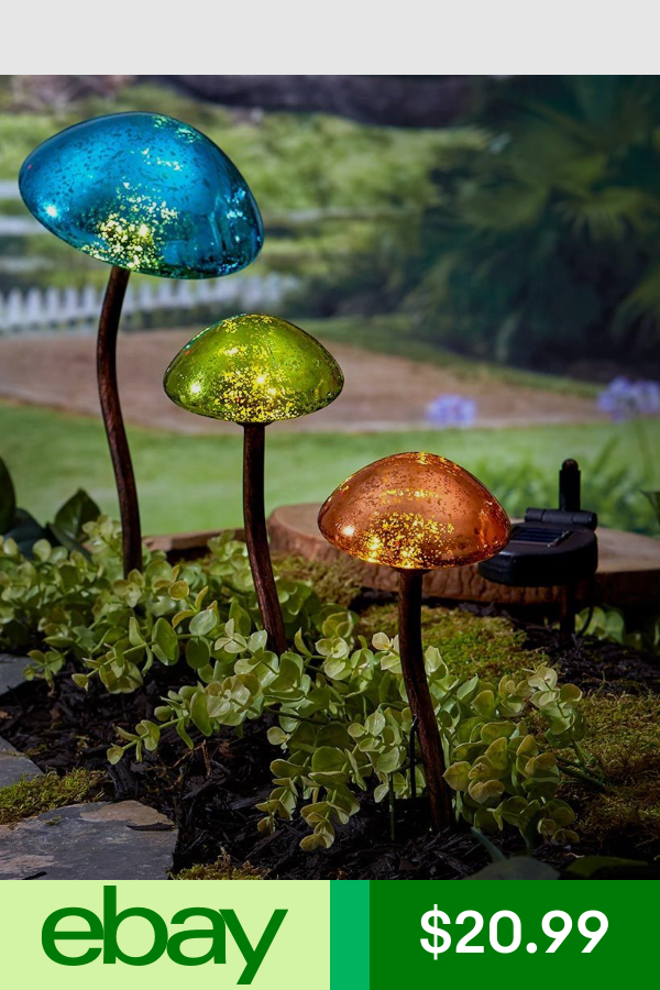 Statues Lawn Ornaments Home Garden Ebay Solar Lights Garden Outdoor Solar Lights Mushroom Lights