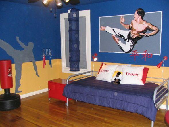 Gavin S Karate Room Basketball Themed Bedroom Bedroom Themes Boy Bedroom Design