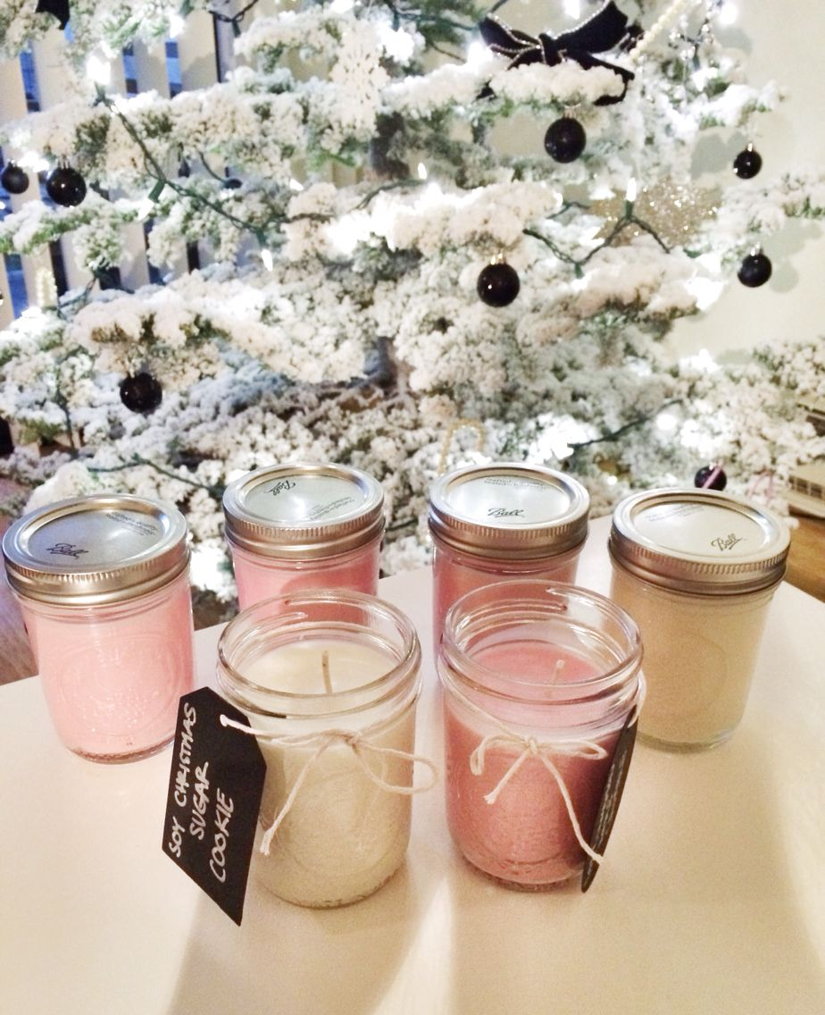 DIY scented soy candles! So easy and a great holiday gift
