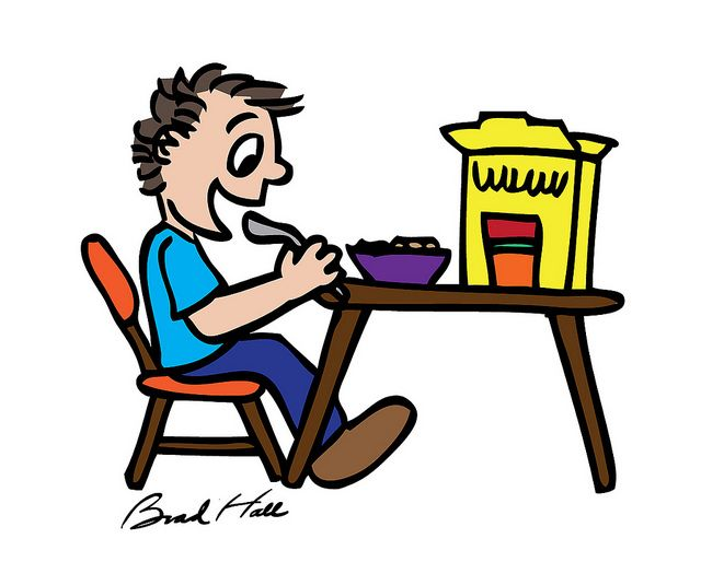 drawings of kids eating breakfast copyright free cartoon drawing of kid eating cereal - Cartoon Drawings Of Kids