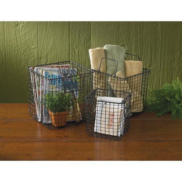 "Country Village Shoppe - Storage Baskets (Set of 3) 10"", 9"", 7"", $58.95 (http://www.countryvillageshoppe.com/storage-baskets-set-of-3-10-9-7/)"