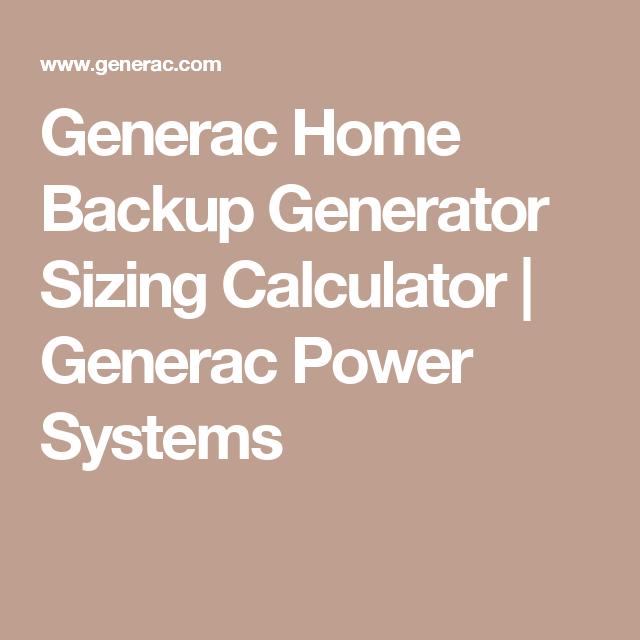 Calculate Generator Size Erkalnathandedecker