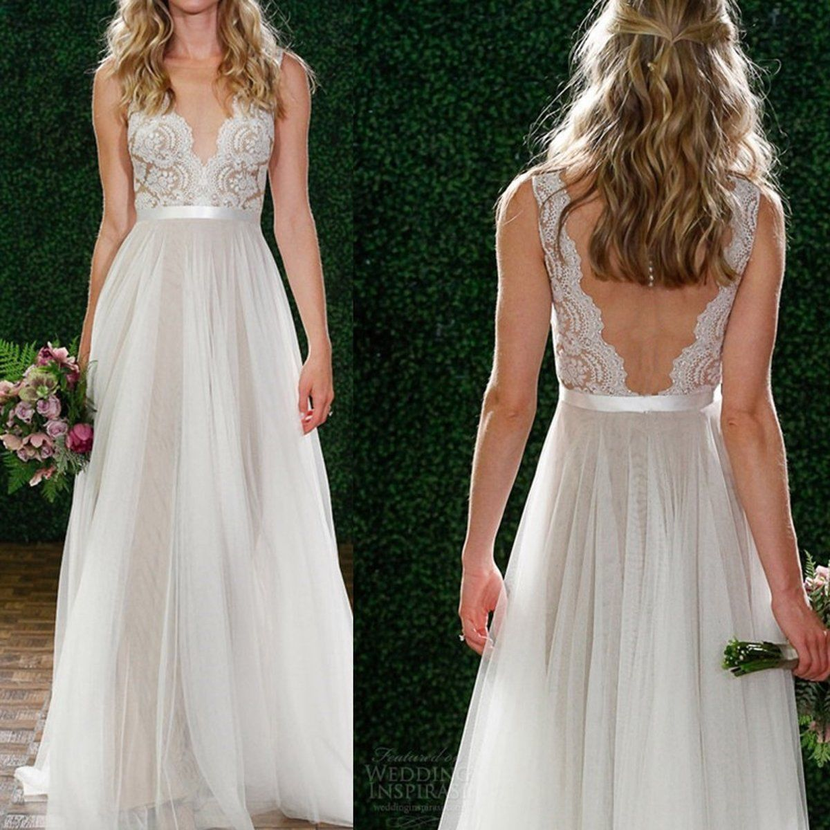 Women lace chiffon bridesmaid wedding formal party gown prom long