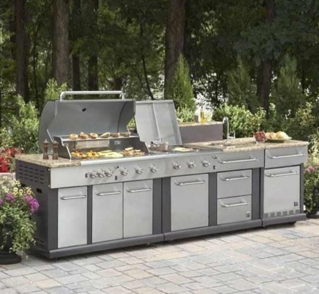 Prefab Outdoor Kitchen Kits With Griddle