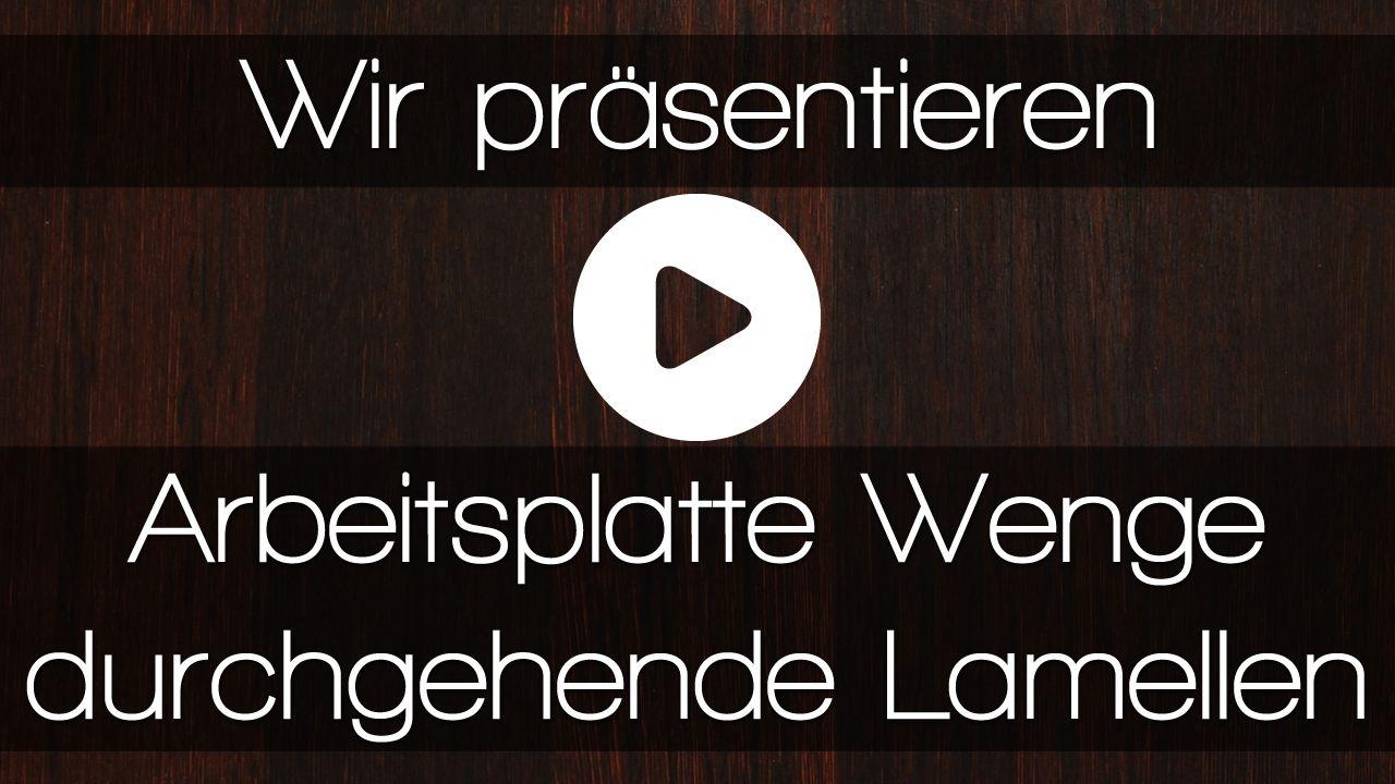 Wenge Arbeitsplatten In Einer Modernen Kuche Video Wenge Holz