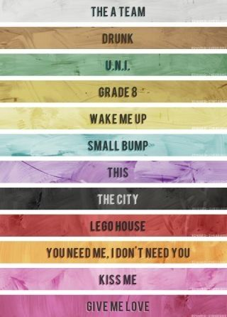 I Love Em All Haha I Was Testing One Of My Friends By Lip Syncing Grade 8 And She Forgot The Name So She Said Number 4 On The Album