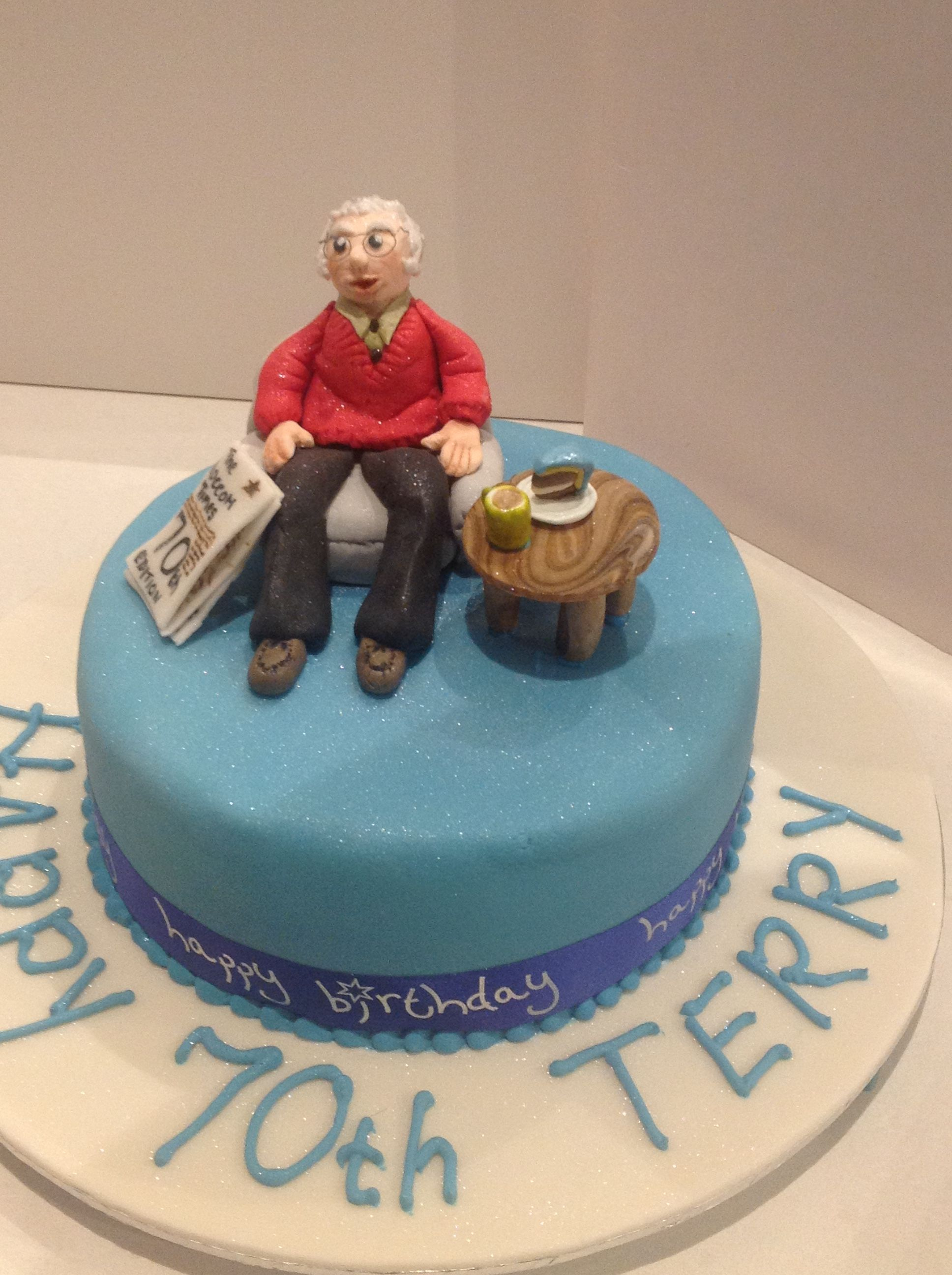 A birthday cake for my daughterinlaws father cake