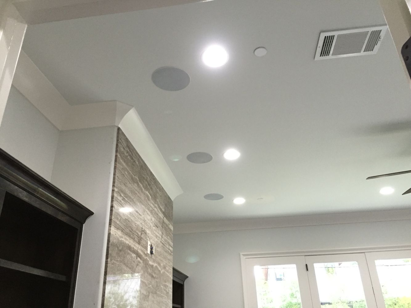 Roof speakers in wall u0026 in ceiling speaker installation toronto leslievillegeek tv - Ideal ceiling height for a house what matters ...