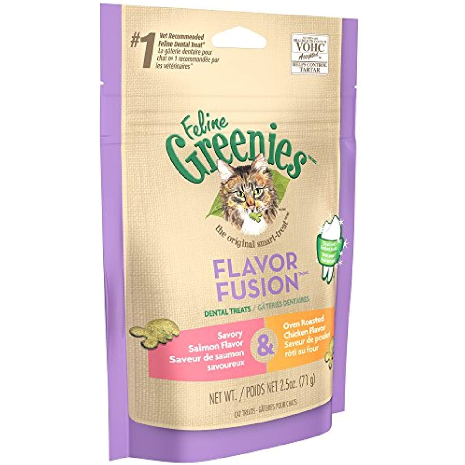 Greenies FELINE FLAVOR FUSION Dental Treats for Cats