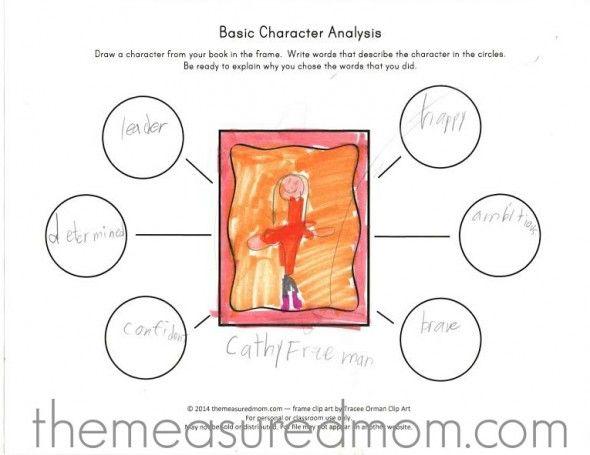 Free character analysis worksheet for kids Free characters - character analysis