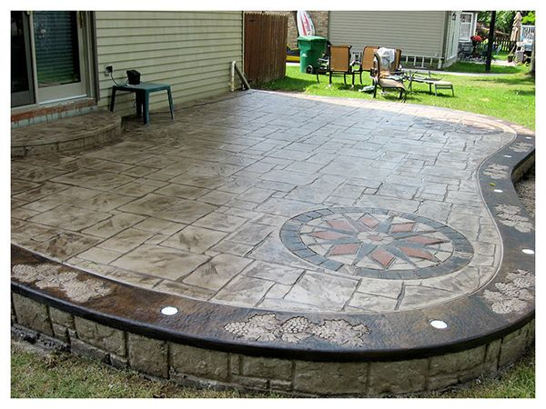 Stamped Concrete Patios with a design Garden Pinterest