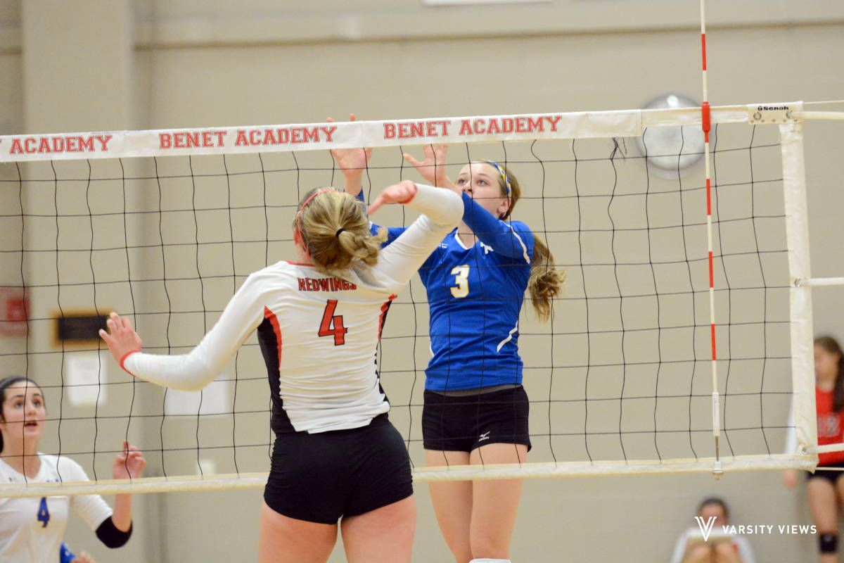 Girls Varsity Volleyball Benet Vs Wheaton North Wheaton Varsity North