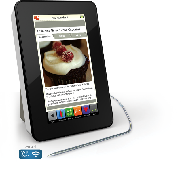 Demy Kitchen Safe Touchscreen Recipe Reader - reader, kitchen timers, a measurement conversion calculator and an ingredient substitution dictionary #gadget