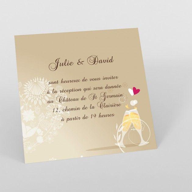 Exceptionnel Carte invitation mariage produit à personnaliser - page 1 - Faire  AC82