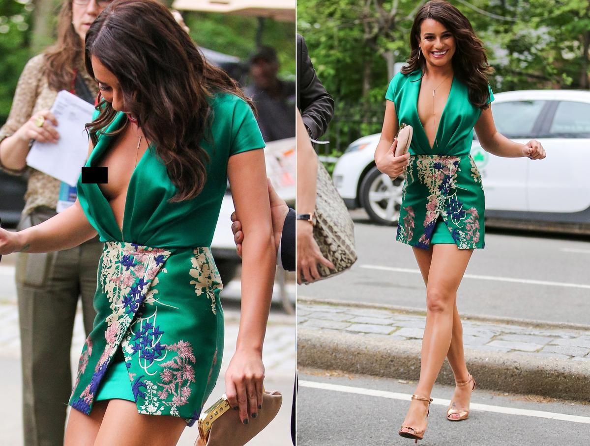 Wardrobe malfunction of hollywood celebrity