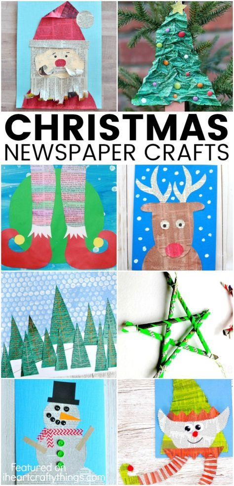 Christmas Newspaper Craft Ideas Cooking Newspaper Crafts
