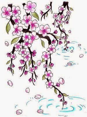 Flor de cerezo Cats tattoo t Cerezo Flor y Flores