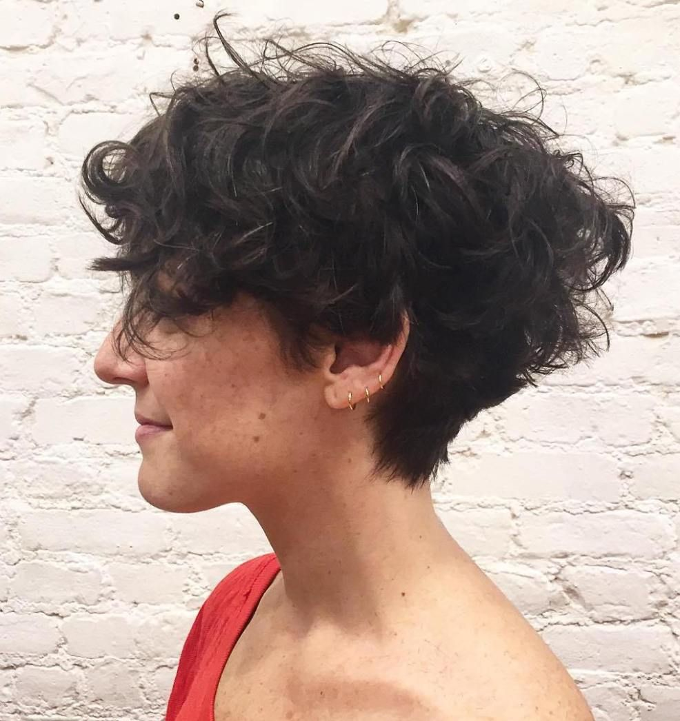 Most Delightful Short Wavy Hairstyles  Tapered haircut Curly