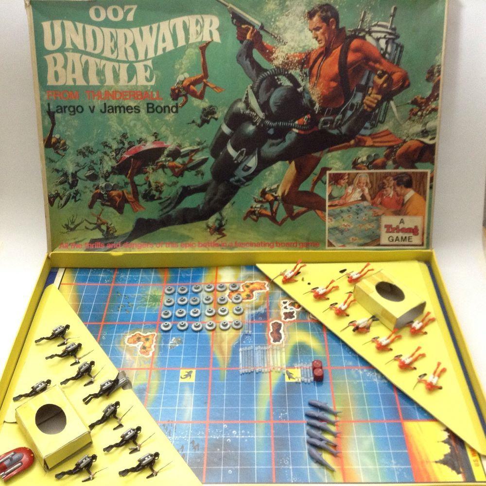 RARE Vintage 1960's Triang Board Game 007 James Bond V