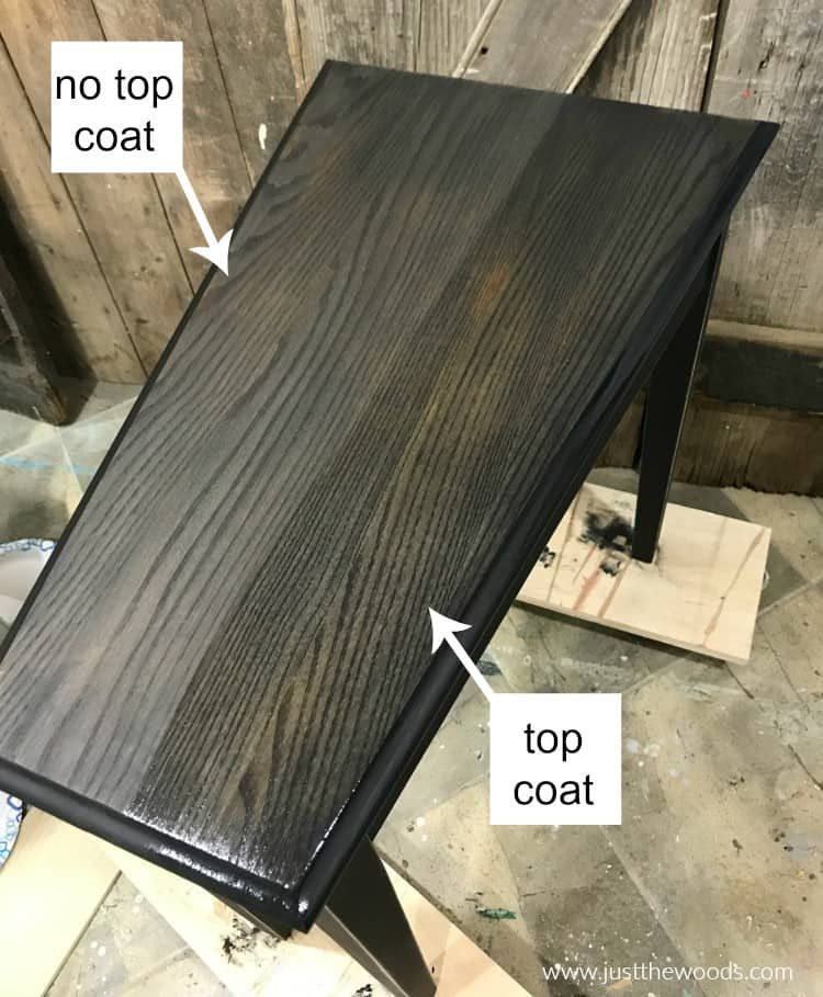 How To Paint A Table With The Best Black Furniture Paint Stain Staining Wood Furniture Black Wood Stain Staining Wood