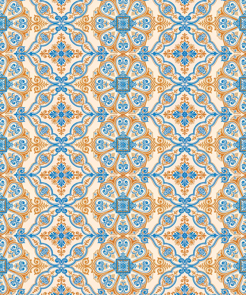Mediterranean Wallpaper Relaxing Tile Design Milton King Mediterranean Wallpaper Wallpaper Medallion Wallpaper