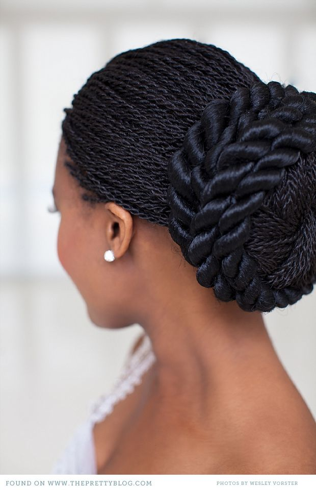 Botlhale Baikagile S Vow Renewal African Hairstyles Hair