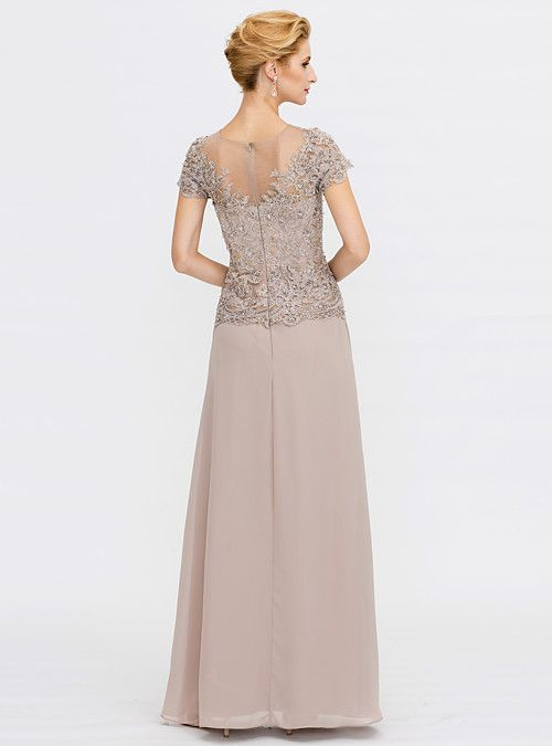 629ef3bf9b3 A-Line V Neck Floor Length Chiffon Beaded Lace Mother of the Bride Dress  with Beading Lace by LAN TING BRIDE® 2019 - € 179.39