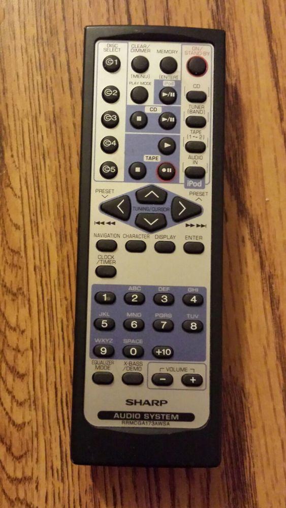 sharp rrmcga173awsa audio system remote control cd dk890 cd dk890n rh pinterest co uk Sharp CDES600 Sharp TV