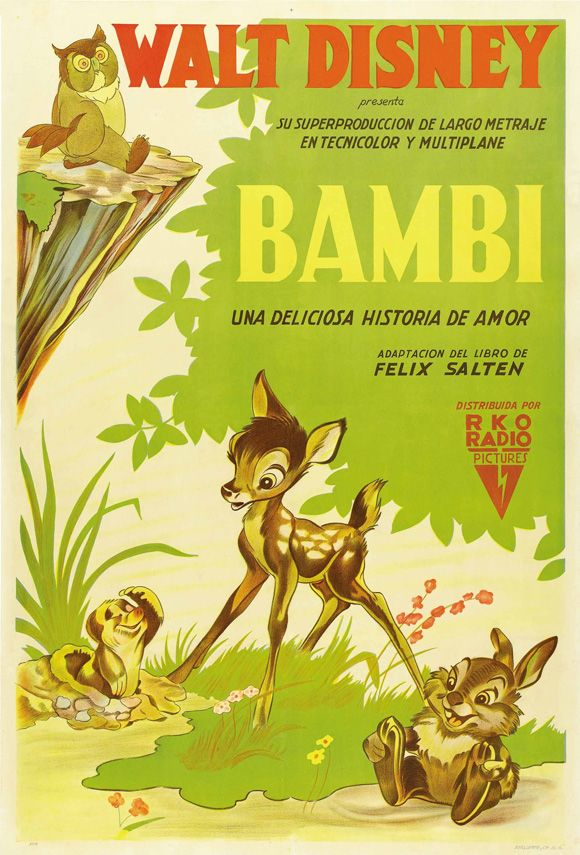 BAMBI Movie Promo POSTER Argentine - 220.8KB