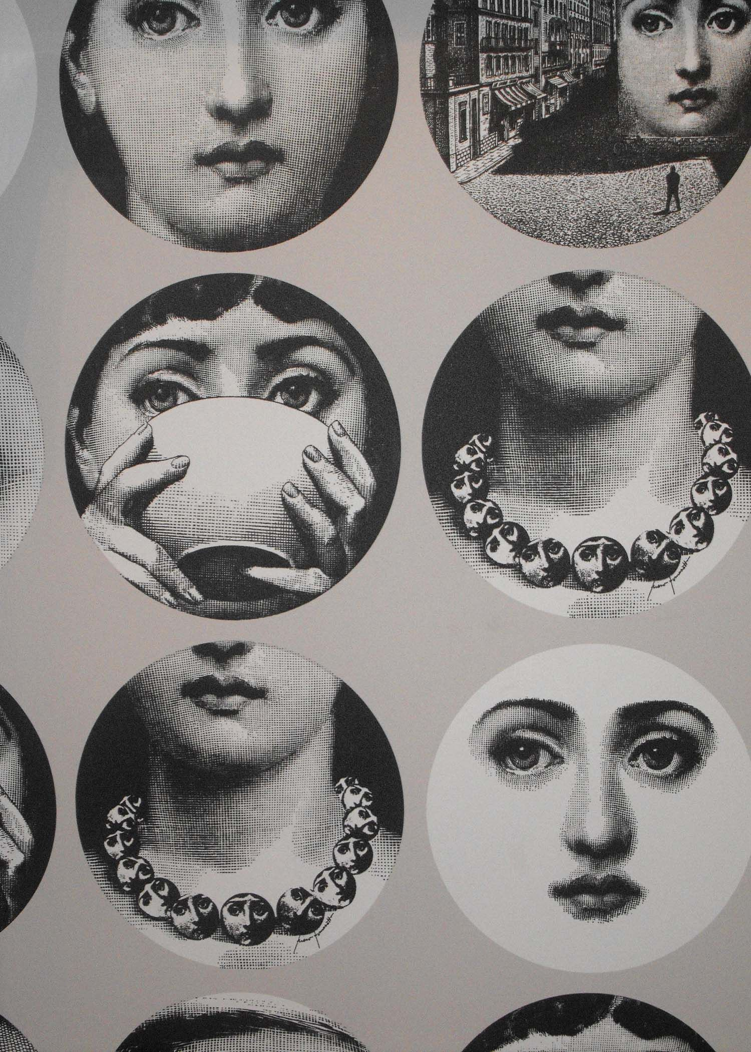 Fornasetti Face Wallpaper Fornasetti Wallpaper For The Home Pinterest