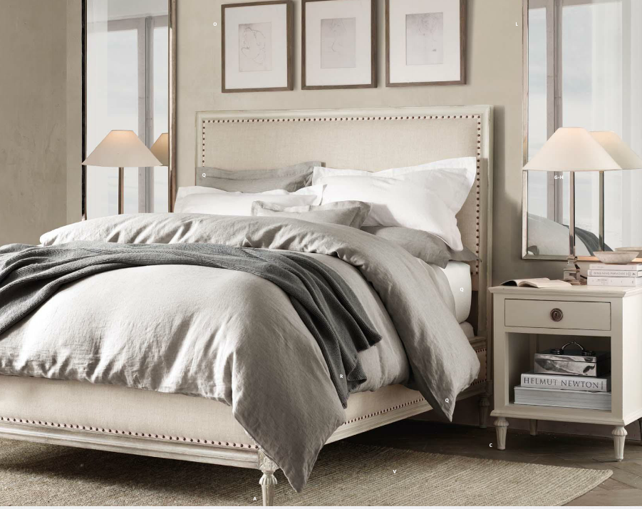 Restoration Hardware bed we got but in a different wood finish ...
