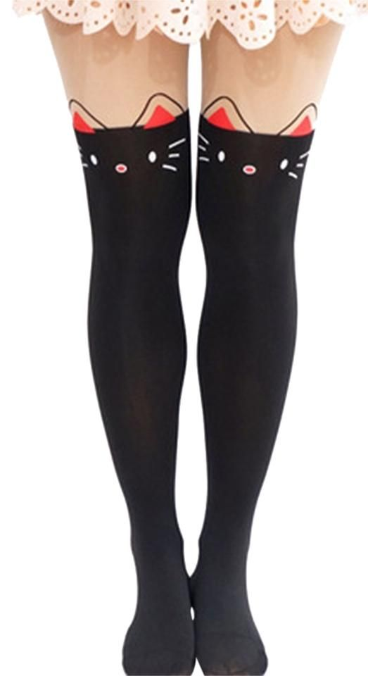 dc43e1dcf Buy Pink   Black Kitty Thigh High Tights on Cat Walk Of Fame Now!