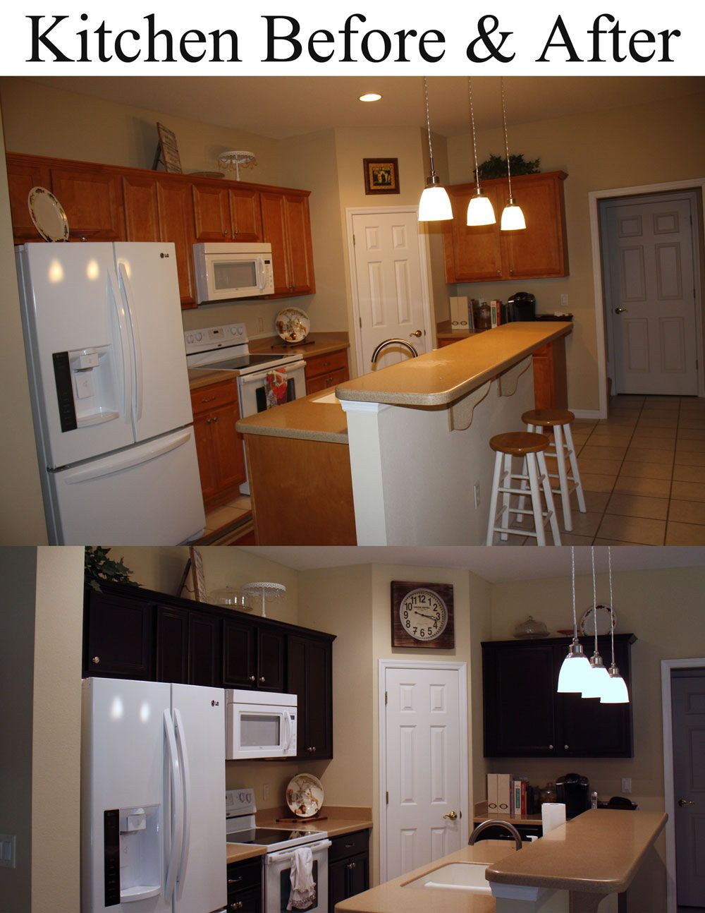 Stained My Cabinets With General Finishes Java Gel Stain. Super Easy. :)  Great Job Corrie! Java Gel Stain Is Available At Woodcraft, Rockler Or  Check Out ...