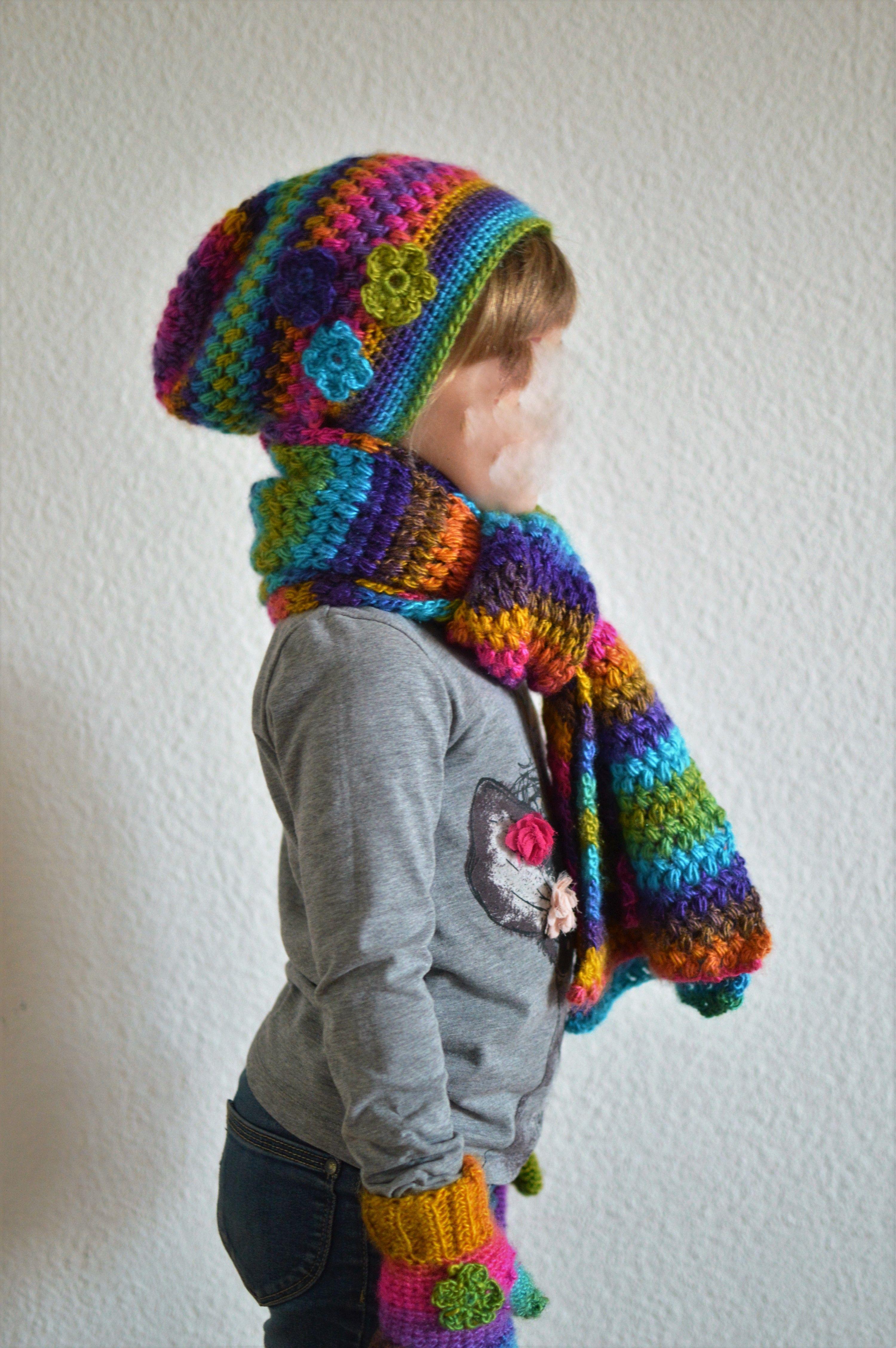 Muts Sjaal Handschoenen Haken Voor Kleuter Meisje Wol Fenna Naald