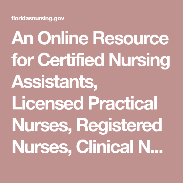 An Online Resource for Certified Nursing Assistants, Licensed ...