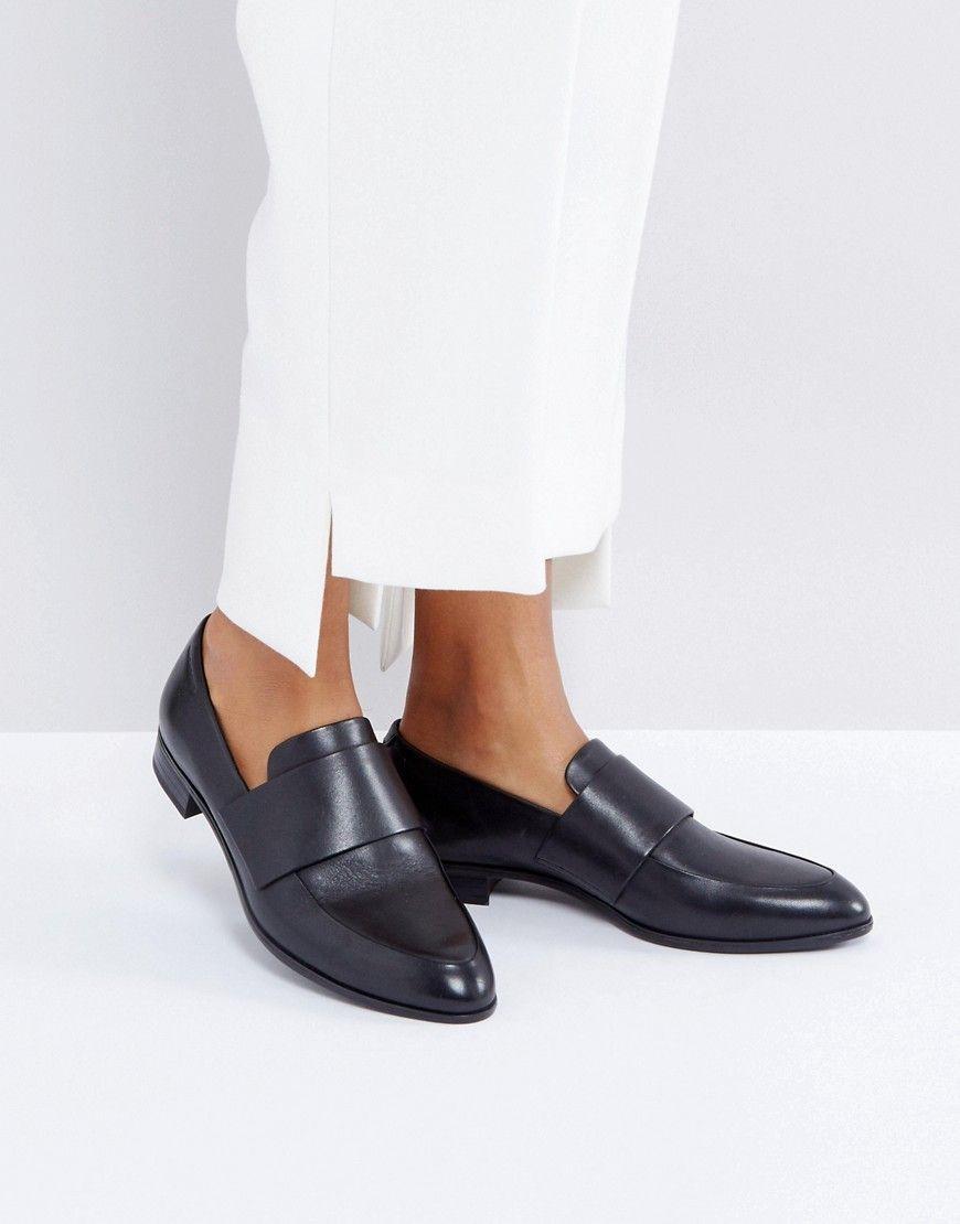 96c0d342f90 VAGABOND FRANCES BLACK POLISHED LEATHER LOAFERS - BLACK.  vagabond  shoes