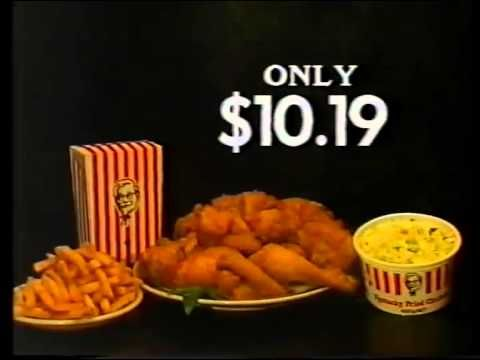 Kentucky fried chicken coleslaw chips 1984 commercial - Kentucky french chicken ...