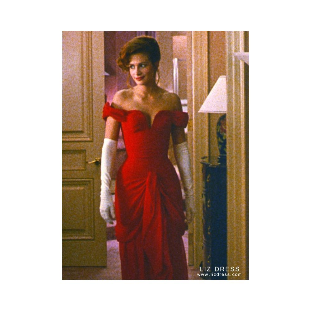 Julia Roberts Red Off The Shoulder Formal Celebrity Dress In Movie Pretty Woman Pretty Women Dresses Dresses Pretty Woman Red Dress [ 1000 x 1000 Pixel ]