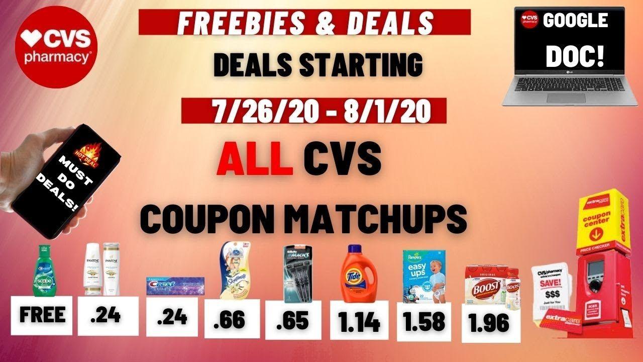 Cvs Coupon Matchups Deal Breakdowns Starting 7 26 Sensational Freebies Cheap Products In 2020 Cvs Couponing Coupons Coupon Matchups