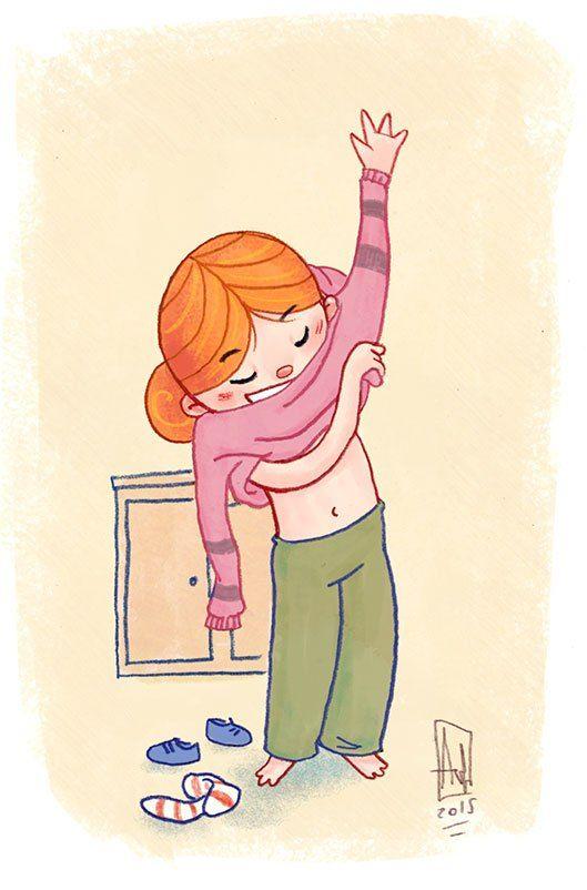 Chica joven cambiandose de ropa en un tren - 2 part 1