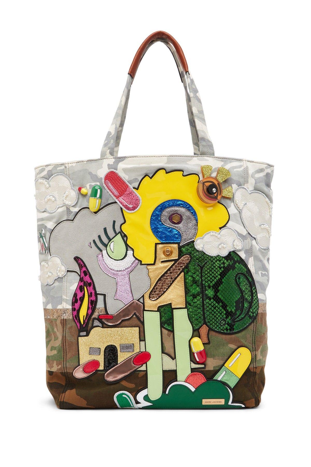 a42087723042 Marc Jacobs Julie Verhoeven Camo Print Tote Bag
