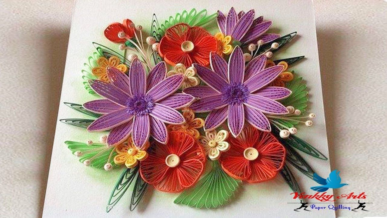 Paper Quilling How To Make Beautiful Flower Designs Paper